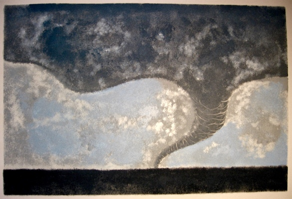 Funnel Cloud Monotype 12in x 18in 2009
