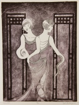 Siamesas Etching 11.75in x 8.75in 2012 edition size: 10