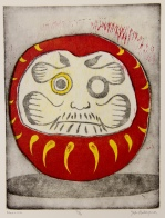 Daruma Etching & Woodcut 11in x 8.5in 2012 edition size: 6