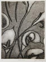 Calla Lilies Intaglio 8in x 6in 2007 edition size: 5