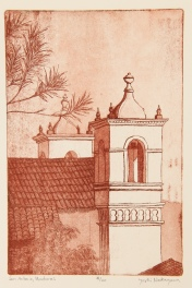 San Antonio, Honduras Etching 9in x 6in 2009 edition size: 20