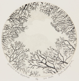 Guardians of the Departed Etching 5in diameter 2003 edition size: 8 third state