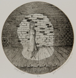 Stage Fright Etching 6in diameter 2008 edition size: 16