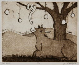 Ox & Snake Etching 6.5in x 8 in 2009 edition size: 7
