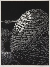 Shepherd's Hut Woodcut 12in x 9in 2013 edition size: 9