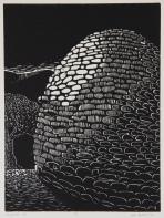 Shepherd's Hut Woodcut 12in x 9in 2013 edition size: 9