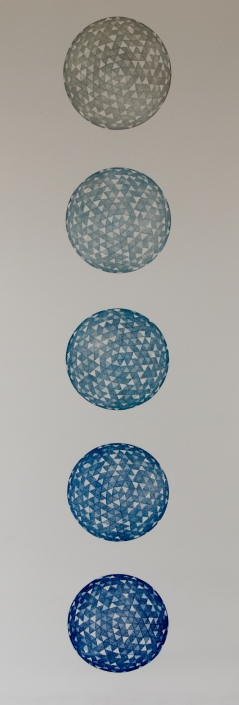 """""""Pale Blue Dot"""" Etching 41in x 15in 2013 edition size: 6"""