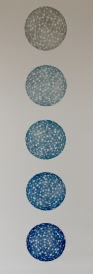 """Pale Blue Dot"" Etching 41in x 15in 2013 edition size: 6"