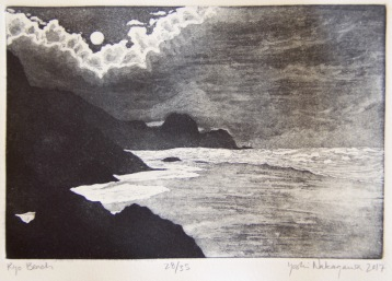 Ryo Beach Etching 9in x 6in 2017 Edition size: 19, 2nd edition