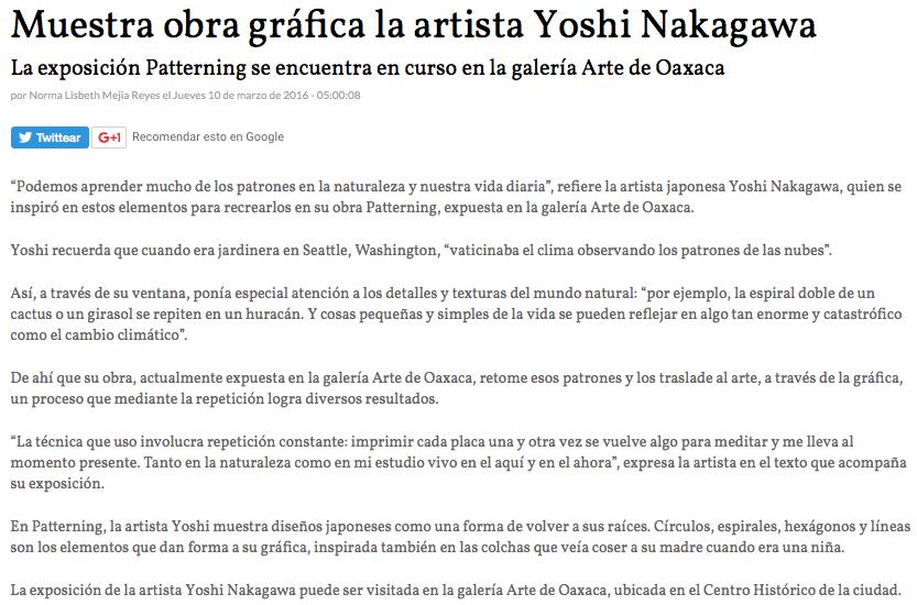 Press/Publications | Yoshi Nakagawa