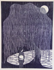 Under the Willow Woodcut 31.75in x 24in 2017 Edition size: 12