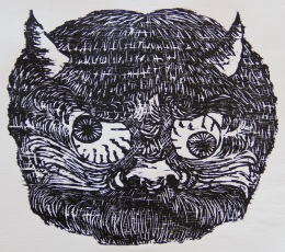 Oni Woodcut 8.5in x 9.5in 2018 Edition size: 12