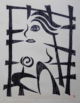 Reflection Woodcut 30.5in x 23in 2018 Edition size: 10