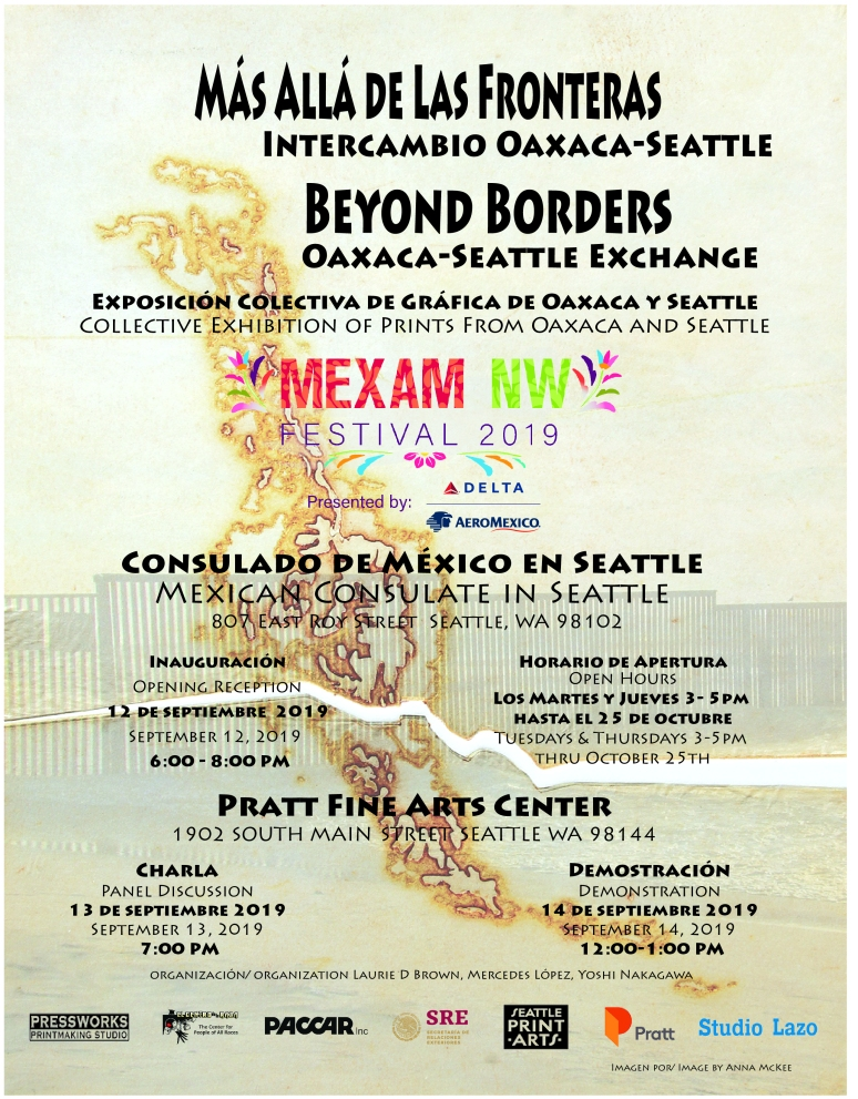 Oaxaca-Seattle Art Exhibit Poster